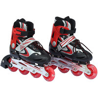 Inline Adjustable Skate,Roller Skating Shoes for kids L Size 9-12years Red