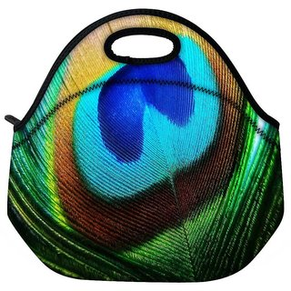 Peacock Feather Closeup Designer Protective Back Case Cover For Oneplus 3 Travel Outdoor Tote Lunch Bag