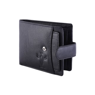 Krosshorn Black Genuine Leather Wallet for Men
