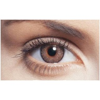 i-look Brown Colour Monthly(Zero Power) Contact Lens
