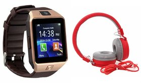 Zemini DZ09 Smartwatch and MS 881C Bluetooth Headphone for OPPO MIRROR 5S(DZ09 Smart Watch With 4G Sim Card, Memory Card| MS 881C Bluetooth Headphone)