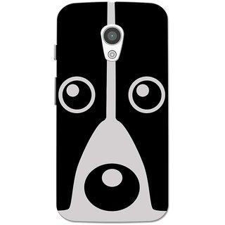 Moto G2 Case, Moto G XT1068 Case, Moto G+1 Case, Dog Face Grey Black Slim Fit Hard Case Cover/Back Cover for Moto G 2nd gen/Moto G2