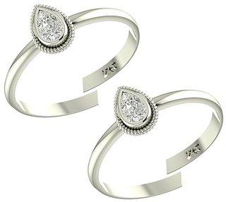 PeenZone 92.5 Silver Toe Rings For Women  Girls