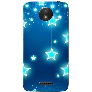 Moto C Plus Case, Chirstmas Stars Slim Fit Hard Case Cover/Back Cover for Motorola Moto C Plus