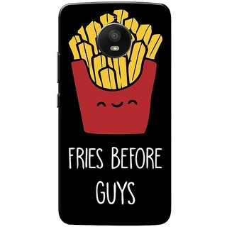 Moto E4 Plus Case, Moto E Plus 4th Gen Case, Fries Before Guys Black Slim Fit Hard Case Cover/Back Cover for Motorola Moto E4 Plus
