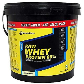 MuscleBlaze Raw Whey Protein - 4 kg with Free Shaker