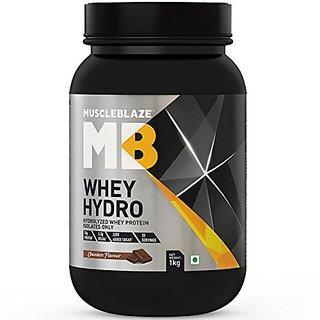 MuscleBlaze Whey Hydro- Chocolate Flavour 1kg