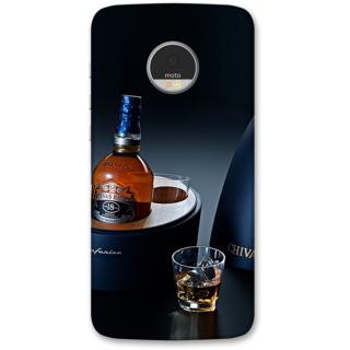 Moto Z Play Designer Hard-Plastic Phone Cover frI am taken Print Opera -Chivas