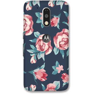 Moto G4 Plus Designer Hard-Plastic Phone Cover from Print Opera -Beautiful flowers