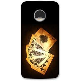 Moto Z Designer Hard-Plastic Phone Cover from Print Opera -Cards