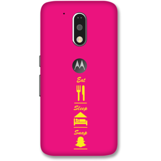 Moto G4 Plus Designer Hard-Plastic Phone Cover from Print Opera -Eat sleep snap