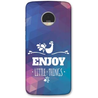Moto Z Play Designer Hard-Plastic Phone Cover frI am taken Print Opera -Enjoy littel things