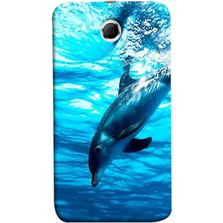 FUSON Designer Back Case Cover For Lenovo K880 (Dark Blue Deepblue Sea Ocean Baby Dolphin)