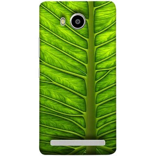 FUSON Designer Back Case Cover For Lenovo A7700 (Bright Green Leaf Of Tree Full Of Life Network Of Veins)