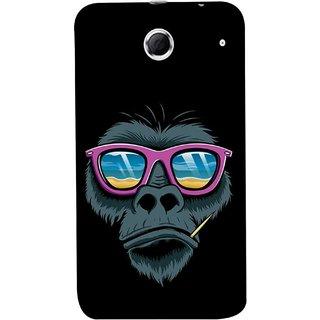 FUSON Designer Back Case Cover For Lenovo K880 (Pink  Toothpick Smoking Drawing Design)