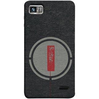 FUSON Designer Back Case Cover For Lenovo K860 :: Lenovo IdeaPhone K860 (Dark Alphabet Circle Vintage Grey Circle Pattern I)