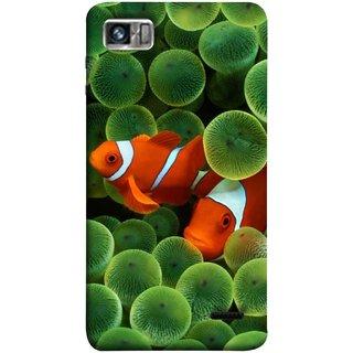 FUSON Designer Back Case Cover For Lenovo K860 :: Lenovo IdeaPhone K860 (White Orange Two Fish Water Salt Best Wallpapers Sea)