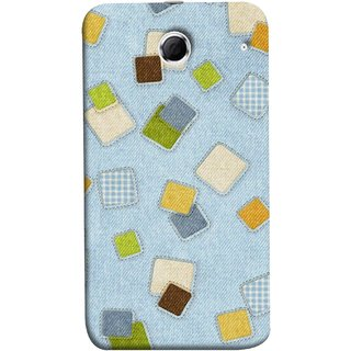 FUSON Designer Back Case Cover For Lenovo K880 (Lot Colours Squares Patch Tiles Brown White Checks )
