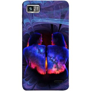 FUSON Designer Back Case Cover For Lenovo K860 :: Lenovo IdeaPhone K860 (Young Beautiful Woman Smiling To Herself In Mirror)