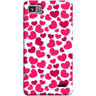 FUSON Designer Back Case Cover For Lenovo K860 :: Lenovo IdeaPhone K860 (Abstract Love Heart Background Lovers Valentine)