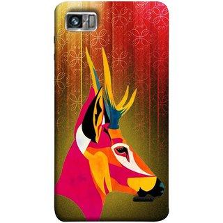 FUSON Designer Back Case Cover For Lenovo K860 :: Lenovo IdeaPhone K860 (Christmas Deer Origami Merry Abstract Reindeer)