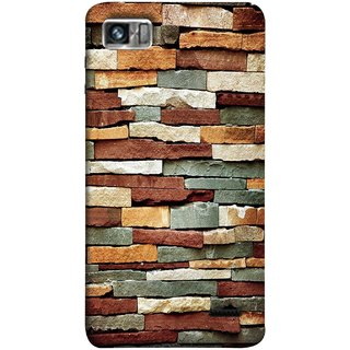 FUSON Designer Back Case Cover For Lenovo K860 :: Lenovo IdeaPhone K860 (Wall Of Multiple Colored Stone Used As A Background)