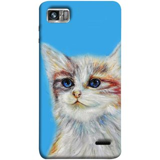 FUSON Designer Back Case Cover For Lenovo K860 :: Lenovo IdeaPhone K860 (Dog Cat Kitten Whisker Puppy Triangle Rectangle)