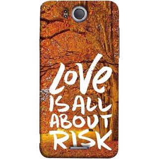 FUSON Designer Back Case Cover For InFocus M530 (Trees Prem Pyar To Badi Risk Hai Very Dangerous )