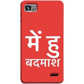 FUSON Designer Back Case Cover For Lenovo K860 :: Lenovo IdeaPhone K860 (I Am Bad And Don Hindi English India Mumbai)