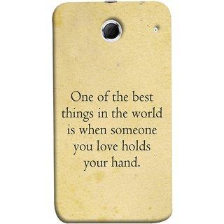 FUSON Designer Back Case Cover For Lenovo K880 (Someone You Love Holds Your Hands Forever Together)