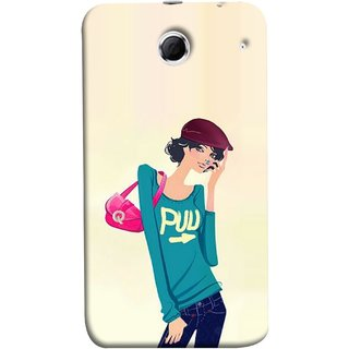FUSON Designer Back Case Cover For Lenovo K880 (Morden Lady Tshirt Jeans Cap Beautiful Girly)