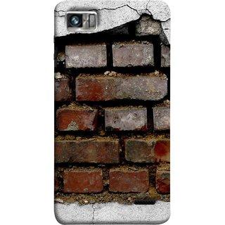 FUSON Designer Back Case Cover For Lenovo K860 :: Lenovo IdeaPhone K860 (Peeling Plaster Bricks White Cement Broken Small Big)