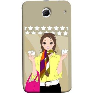 FUSON Designer Back Case Cover For Lenovo K880 (Animated 3D Starts Pink Bag Jeans Pant Yellow Shirt )