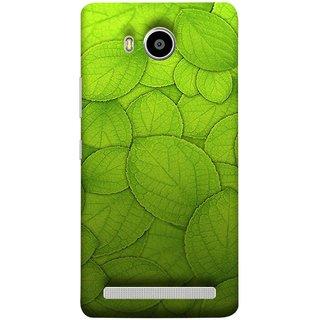 FUSON Designer Back Case Cover For Lenovo A7700 (Leaf On Water Ajwain Leaves Beautiful Nice )