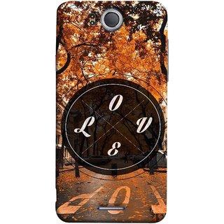 FUSON Designer Back Case Cover For InFocus M530 (Love Everywhere Stay Long Life Always Road Lovers )