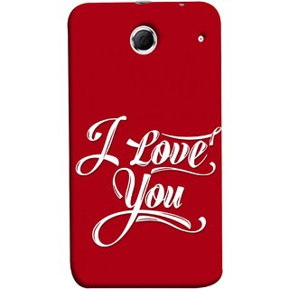 FUSON Designer Back Case Cover For Lenovo K880 (I Love You Always Lovers Valentine Hearts Kiss )