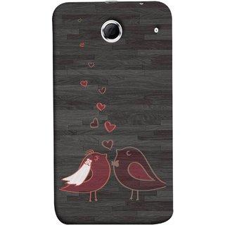 FUSON Designer Back Case Cover For Lenovo K880 (Lovely Pair Of Cute Birds Kissing Hairband )