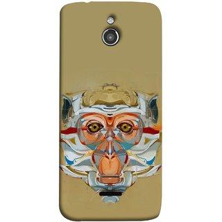 FUSON Designer Back Case Cover For InFocus M2 (Multicolour Cat Monkey King Animal Tree )