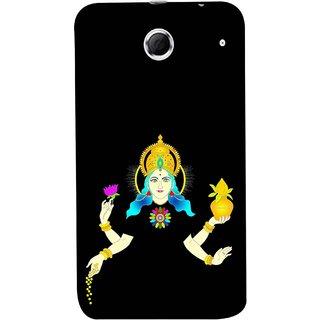 FUSON Designer Back Case Cover For Lenovo K880 (Laxmi Kamal Lotus Gold Crown Mukut Kalash)