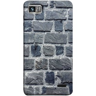 FUSON Designer Back Case Cover For Lenovo K860 :: Lenovo IdeaPhone K860 (Irregular Shapes Cement Ancient Different Sizes Wall)