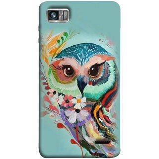 FUSON Designer Back Case Cover For Lenovo K860 :: Lenovo IdeaPhone K860 (Birds Sitting Alone Waiting For Partner Leaves Leaf Sketch)