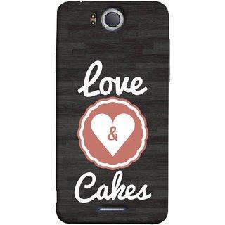 FUSON Designer Back Case Cover For InFocus M530 (Heart Shape Cakesbest Perfect Wow Pyar Prem)
