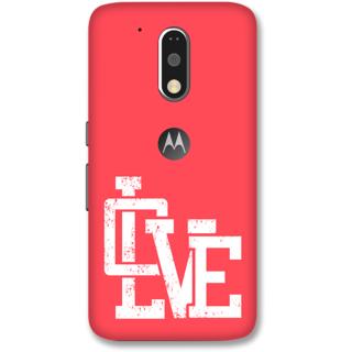 Moto G4 Plus Designer Hard-Plastic Phone Cover frI am taken Print Opera -Love