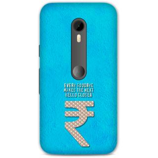 Moto G Turbo Designer Hard-Plastic Phone Cover from Print Opera -Every goodbye makes the next hello closer