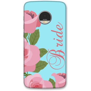 Moto Z Play Designer Hard-Plastic Phone Cover from Print Opera -Bride