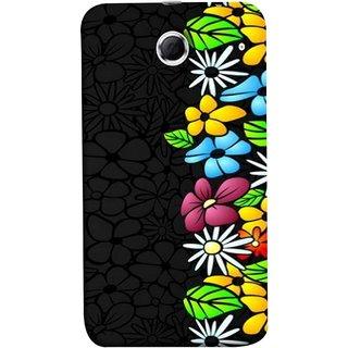 FUSON Designer Back Case Cover For Lenovo K880 (Multicolour Flowers Phul Gray Geen Leaves Beautiful)