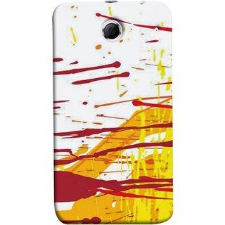 FUSON Designer Back Case Cover For Lenovo K880 (Artwork Acid Bright Wallpaper Yellow Shades)