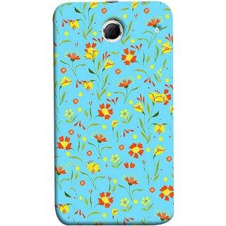 FUSON Designer Back Case Cover For Lenovo K880 (Grey Yellow Red Small Checks Background Fresh Flowers)