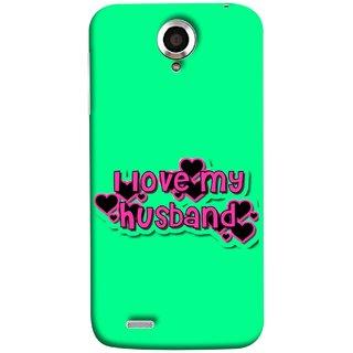 FUSON Designer Back Case Cover For Lenovo S820 (Love My Family Husband Hubby Better Half Partner)