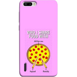 FUSON Designer Back Case Cover For Huawei Honor 6 Plus (Pizza Hut Domino Tomato Pizza Cheese Share Sharing)